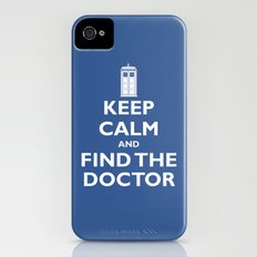 Keep Calm And Find The Doctor Slim Case iPhone (4, 4s)