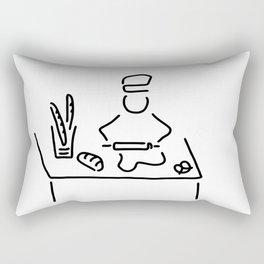 bakers bread bake Rectangular Pillow