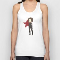 winter soldier Tank Tops featuring Winter Soldier by Nozubozu