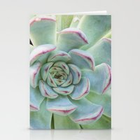 succulent Stationery Cards featuring Succulent by Tammy Franck
