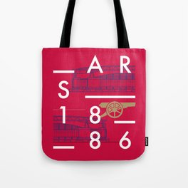 Emirates - Arsenal - Typoline Stadiums Tote Bag