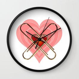 Clip Heart Valentine Wall Clock