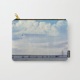 Mackinac suspension bridge at sunset. Carry-All Pouch