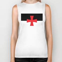 Knights Templar Flag - High Quality Biker Tank