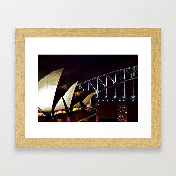 Opera Bridge Framed Art Print