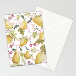 Pears and Acorns Stationery Cards