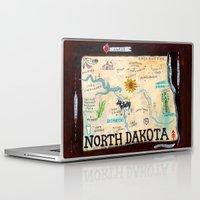 fargo Laptop & iPad Skins featuring NORTH DAKOTA by Christiane Engel