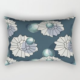 original graphic design with several shapes for garments and designs in blue and white colors Rectangular Pillow