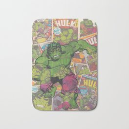 The Hulk Vintage Comic Art Bath Mat