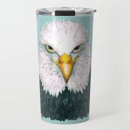 Bald eagle portrait Travel Mug
