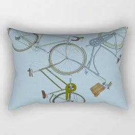 3 bikes Rectangular Pillow