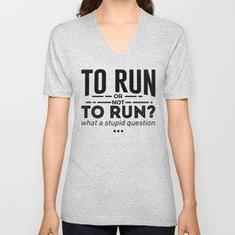 Runners Run Running Is Life Design Unisex V-Neck