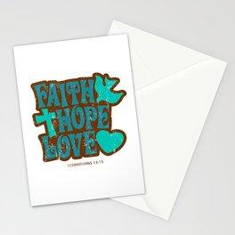 faith hope love Stationery Cards