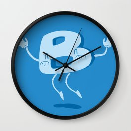 B Happy! Wall Clock