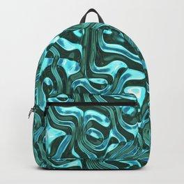 Blue metal background Backpack