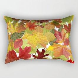 Autumn Fall Leaves Rectangular Pillow