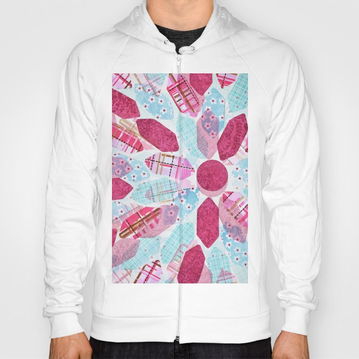 Patchwork-Collage Love Hoody