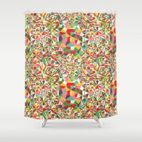 maps Shower Curtains featuring Colour Maps by Candy Joyce