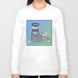 Dogs- Schnauzers - Dogs By Nina Lyman Long Sleeve T-shirt