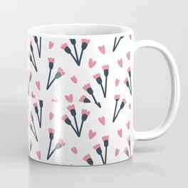 Modern Lovely Flower Pattern Art Coffee Mug