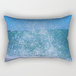 Lake Michigan Natural Fountains #2 (Chicago Waves Collection) Rectangular Pillow