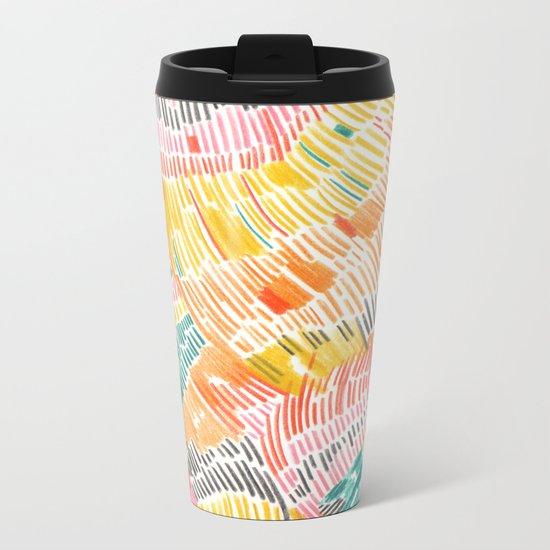 Pattern 6 Metal Travel Mug