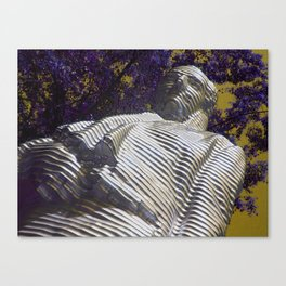 Working with purple Canvas Print