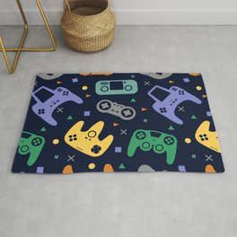 Video Game Controller Pattern Rug