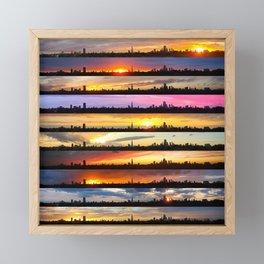 London Sunsets 003: Colour Framed Mini Art Print