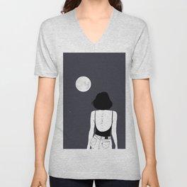 Am a moon like Unisex V-Neck