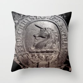 1874 UNICORN Throw Pillow