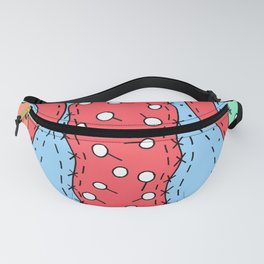 Doodle Art Buttons and Pins - Red Green Blue Fanny Pack