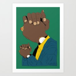 Knuckle Head I - George Art Print