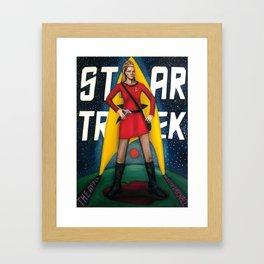STAR TREKER Framed Art Print