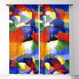 Morgan Russell Cosmic Synchromy Blackout Curtain