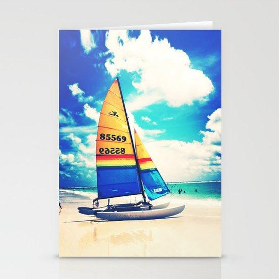 Siesta Key, FL - Sailboat Stationery Cards
