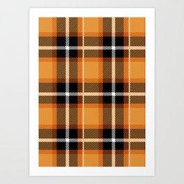 Orange + Black Plaid Kunstdrucke