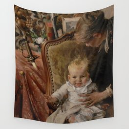 Carl Larsson - Little Suzanne Wall Tapestry