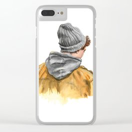 Winter boy Clear iPhone Case