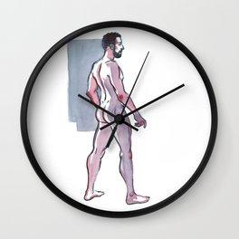JOHN JAMES, Nude Male by Frank-Joseph Wall Clock