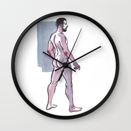 JOHN JAMES, Nude Male by Frank-Joseph Wall Clock