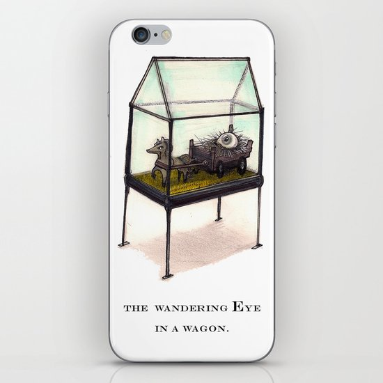 the wandering Eye in a wagon iPhone & iPod Skin