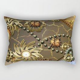 Steampunk golden design Rectangular Pillow