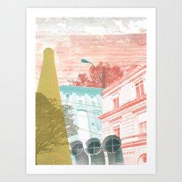 City exploring Art Print