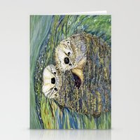 otters Stationery Cards featuring Pair of Otters by Sandra Dean Wilson