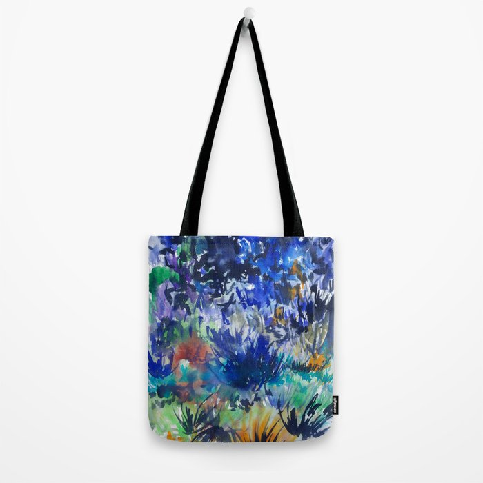 Watercolor wetland landscape Tote Bag