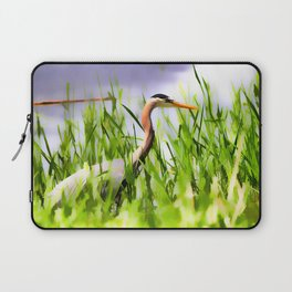 Master of the Marshes  -  Blue Heron Laptop Sleeve
