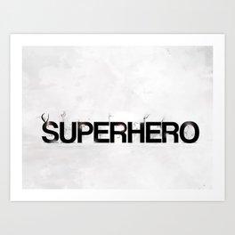Superhero - gray wallpapers Art Print