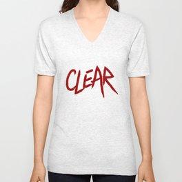 .: CLEAR :. Unisex V-Neck
