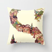 scotland Throw Pillows featuring S is for Scotland by Kelly Chilton